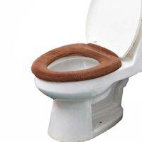 Cheap 1 Pcs Popular Warm Toilet WC Seat Cover Lid Pad Mat Closestool Cushion Protector Bathroom Accessories