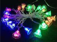achat en gros de ornement de jour de noël-4 M Joyeux Noël coloré led festival de lumières décoratives à 2w/set 110v 220v led de lumière de noël ornement de noël