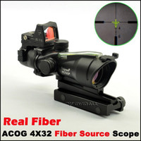 Wholesale Tactical Trijicon Style X32 ACOG Style Rifle Scope With Mini green Dot for hunting