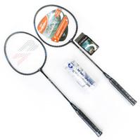 Wholesale Mesuca Sport JOEREX Aluminum Bar BADMINTON RACKET SET SH481 for Beginners Outdoor Indoor Sport Equipment with Carry Bag