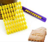 Wholesale 144 set Hot Sale Alphabet Letter Number Cookie Press Stamp Embosser Cutter Fondant Mould Cake
