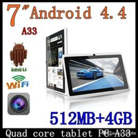 Wholesale Allwinner A33 Quad Core inch q88 Tablet PC Android Dual camera MB Ram GB Rom Wifi YouTube PB7 A33