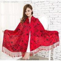 Foulards en coton de marque de gros France-Vente en gros-190 * 70 femmes écharpe hiver chaude écharpes de marque de mode coton épais grand châle long imprimé concepteur Hijab Cachecol # wj114
