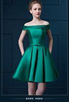 elastic bandage - 2015 A line Cocktail Dresses party dress wedding toast dresses bateau Pleats Special Occasion Dresses