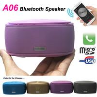 Wholesale A06 Bluetooth Wireless Speaker Fancy Soap Mini Portable Hi Fi Stereo Beat Box Music Box Answer Phone Speakers For Samsung s3 s4 s5 IPAD