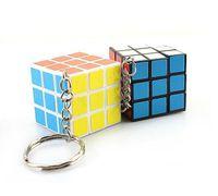 om pendant - New Hot Sale Wedding Favors Key Chain Keychain Rubik s cube x3x3cm Puzzle Magic Game Toy pendants Keychain Kids Educational Toys OM B1