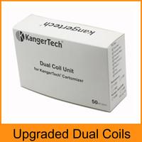 best upgrades - Kanger Coils Upgraded Dual Coil Replacement Coils For Kanger Mega Coils Fit Aerotank Mini Aerotank Mega Protank T3D Best Clone Coil Head