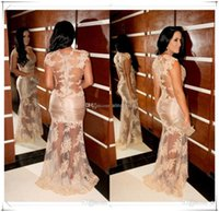 acrylic light covers - new fashion kim kardashian colorful vestidos red carpet sexy appliques long lace party gown Celebrity Dresses