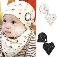 baby girl head scarf - Baby Bibs Hat Boys Girls Saliva Towel Toddler Bandana Triangle Head Scarf Cute