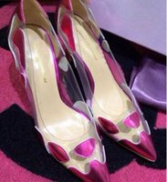 ballet toe tape - 2017 sexy cellophane tape splicing pointed stilettos banquet wedding shoes women s shoes bridal shoes best selling