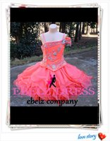 Wholesale 2015 Girl s Glitz hand made Pageant Dresses Organza custom made Lovely Ball Gown Wedding Toddler Short Flower Girl Dresses Cupcake ssj