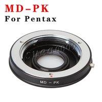 camera lens minolta - Black Color Camera Mount Adapter for Minolta MD MC Lens to Pentax PK Body Metal Durable Len Adapter New Arrivel