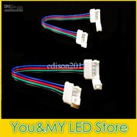 Wholesale New design MM pin led strip connector for RGB led strip light with wire