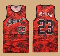 chicago - 2015 New Fashion sleeveless men s D print rose floral Chicago tank top vest Jordan basketball vest CASUAL jersey shirt plus size