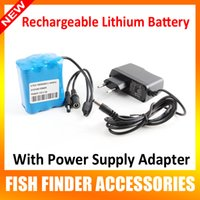 battery power supply system - Only V A Rechargeable Lithium Battery And Power Adapter Supply Used For Hours Support inch LCD Underwater Video Camera System