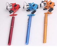 Wholesale HOT pocket fishing Rod Mini Rods Pen fishing Rods Only20cm Spinning Baitcasting Reels put in your pocket High quality YWGD