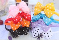 big hair flowers - Baby inch Grosgrain Stripes Ribbon Bowknot Headbands Girl Double Layer Big Flowers Petal Headwear Hair Band Childrens Hair Accessories