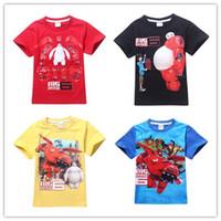 Cheap cotton Children's T-shirts Best Fashion no Big Hero 6