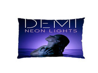 Wholesale Demi Lovato Neon Light Custom Zippered Rectangle Pillowcases Pillow Cover Cases Size x30inch Two sides U2