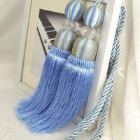 Wholesale 2015 Rushed Promotion for Curtains Curtain Tieback Home Decoration Hanging Ball Straps Crystal Mesh Bag Tassel Accessories