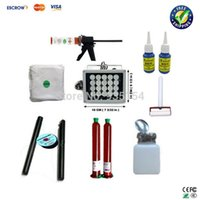 Wholesale Free ship LCD refurbishment machine LCD separator tool kits UV glue dispergator roller UV lamp UV glue gun etc