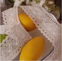 Wholesale 100 m Cotton Lace COTTON CLUNY LACE TRIM LOVELY DESIGN Beige or white color