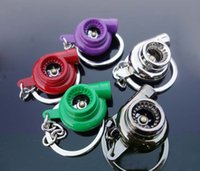 Wholesale Spinning Turbo Keychain Keyring Turbocharger Turbine Key Chain color Choice