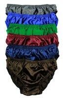 Wholesale Pair Pure Silk Men s Underwear Bikini Briefs Panty Size S M L XL XXL
