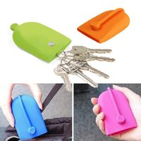 Wholesale Key Chain Hasp Style Silicone Pouch Card Bag Case Gift Key Holder Magnet Snap