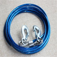 Wholesale 10 m steel wire towing ropes powerful trailer rope tons of tensile force car accessories supply