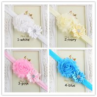 baby goods sale - Hot sales inch New goods Baby girl headbands rose flower hair accessories pearl headdress infant baby hair headband colors mixed