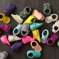 crib shoes - Tassels Color PU Leather Baby Shoes Moccasin Newborn Shoes Soft Infants Crib Shoes Sneakers First Walker