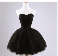 Wholesale Ball Gown New Black Fashion Short Sweetheart Beaded Lace Bridesmaid Dress Elegant Party Gowns Fast Shipping