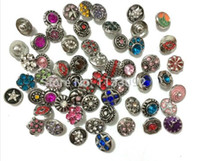 Wholesale mix styles colors mm small button snap jewelry interchangeable ginger snap button charm