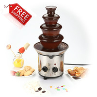 Wholesale Chocolate Fountain Fondue Event Wedding Children Birthday Festive Party Supplies Christmas Waterfall Machine A3