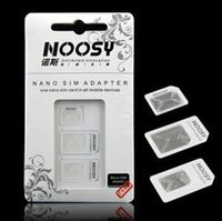 Wholesale Hot sale The most convenient In Noosy Nano Micro SIM Adapter Eject Pin For Iphone SIM Card Retail Box Samsung MOTOROLA