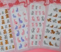bear transportation - NEW Glitter D Cartoon Animal sticker Kids wall poster stickers Bear Bird Cat Rabit Korea diamond stickers baby kids stickers home decor
