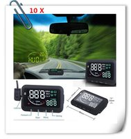 Wholesale 10pcs ifound Updated nd Gen ActiSafety Multi Car HUD Head Up Display System with OBD II cable DHL free