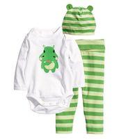 baby s animal hat - S Kids Baby Boys Girls Newborn Bodysuit Pants Hat Cotton Clothes Sets kids cartoon cute outfits sets