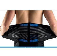 al por mayor soporte lumbar de neopreno-Venta al por mayor-1pc alta calidad neopreno doble tracción lumbar espinal brazos de espalda cinturón de apoyo menor espalda dolor relevación auto-cinturón