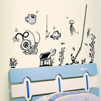 beautiful romantic bedrooms - bedroom decoration The new removable wall stickers romantic scenery beautiful living room wall stickers children bedroom Underwater World AY
