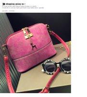 bb messenger - New Fashion Womens Scrub Shell Shoulder Bag Handbag PU Leather Purse Satchel Messenger Bag BB