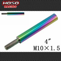 Wholesale Racing JDM NEO CHROME SHIFT KNOB EXTENDER EXTENSION M10X1 LEVER GEAR SHIFTER for Honda Acura quot