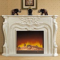 american fireplaces - 1 m high end European style fireplace wood engraving American decorative custom furniture factory in Foshan