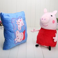 Wholesale Peppa Pig Hug cm Snuggle Reversible Pillow Plush Toy and Pillow Double Use Pillow Pet Toys