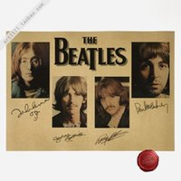 american living collection - Beatles Signature Collection Vintage Paper Poster Wall Painting Home Decoration cm