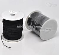 al por mayor cordón negro 1mm-JLB 1mm 120m / porción resultados de la joyería de la manera al Negro elástico hilo de algodón cubierto Cuerdas de bricolaje Accesorios Envío libre