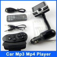 Wholesale Bluetooth Car Kit MP3 Player inch color LCD Display FM Modulator Transmitter Steering Wheel Remote Control Support USB MMC SD Card
