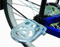 folding electric bicycle - Bicycle Back Seat Pedal Electric Bike Rear Seat Folding Footrest Pedal Board Footrest Steel Plate