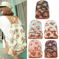 Wholesale 2015 Floral Print Students Travel Casual Daypacks Oversize Printed Universe Canvas Book Satchel Shoulder Bag School Backpack